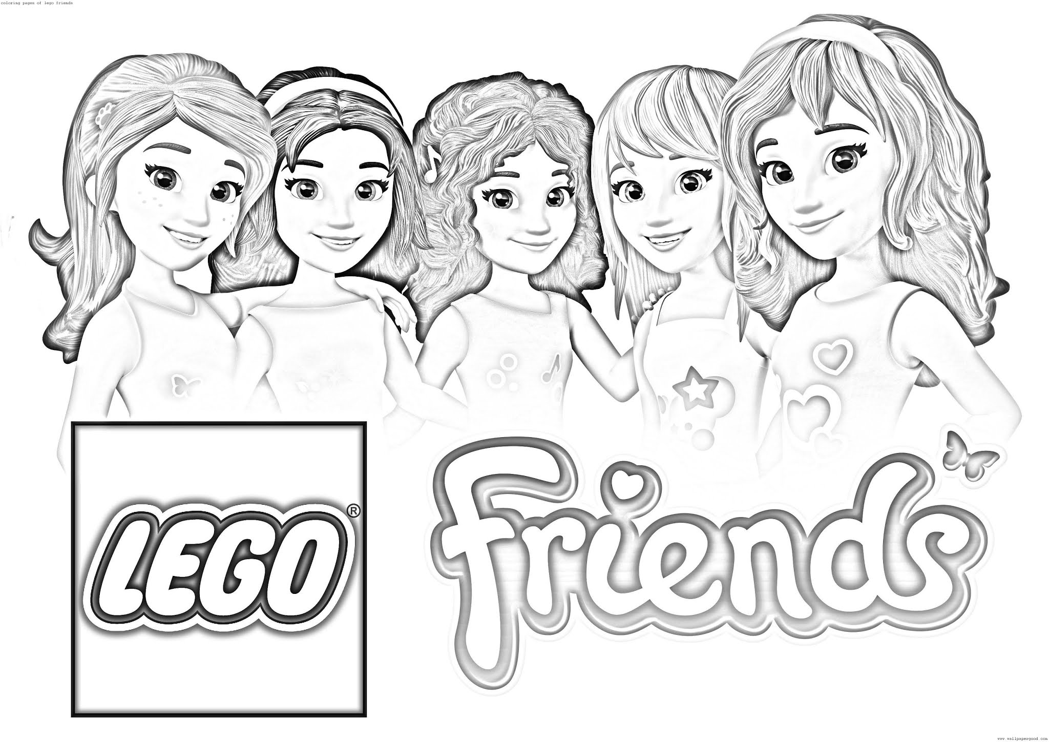 coloring pages of lego friends