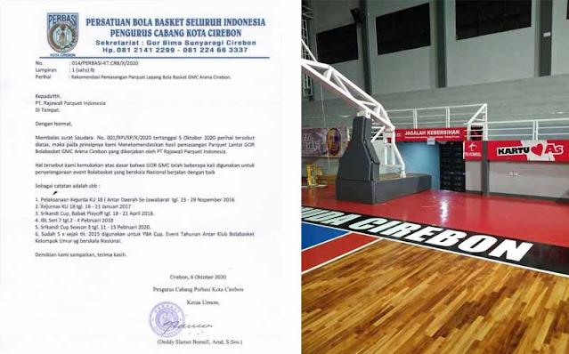 Rekomendasi pemasangan lantai kayu lapangan basket perbasi