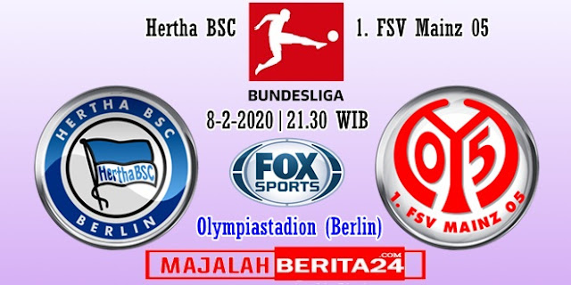 Prediksi Hertha BSC vs Mainz 05 — 8 Februari 2020