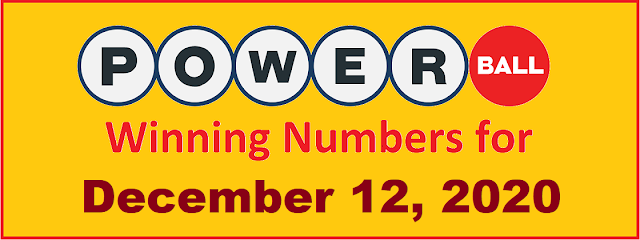 PowerBall Winning Numbers for Saturday, December 12, 2020
