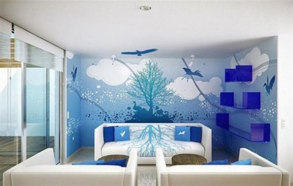 lukisan rumah minimalis