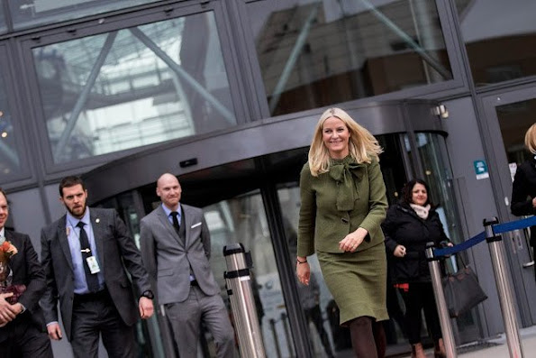 Crown Princess Mette-Marit of Norway attended the opening of BI International Case Competition which is held in Oslo.