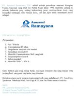 Lowongan Kerja di PT. Asuransi Ramayana Tbk Surabaya September 2021