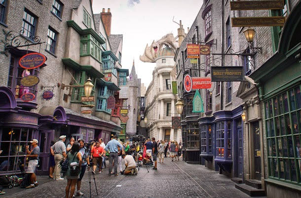 Beco Diagonal do Harry Potter no Parque Universal Studios em Orlando