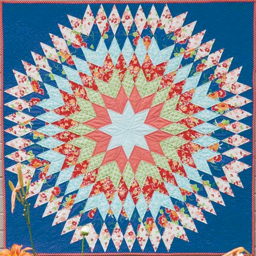 Bursting Star Quilt Free Pattern