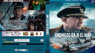 CARATULA ENEMIGOS BAJO EL MAR - EN LA MIRA DEL ENEMIGO - GREYHOUND 2020[COVER BLU-RAY]