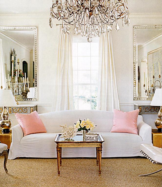 weiss schwarz rosa wohnzimmer, ein wohnzimmer in weiß, rosa und gold - christine oertel interior design, Design ideen