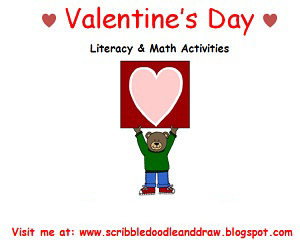 Valentine's day worksheets-literacy and math activities