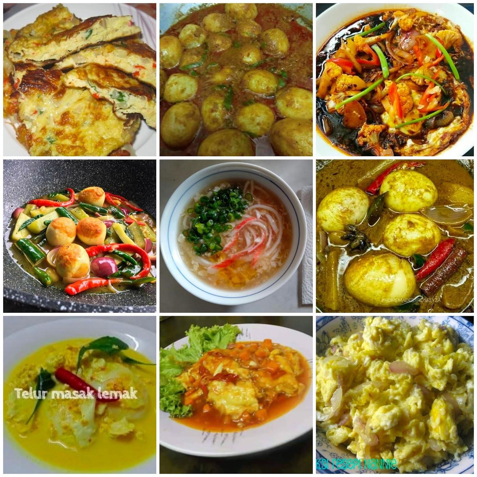 menu sahur  kenyang lebih  semasa berpuasa  idea resepi telur marina bashah Resepi Daging Masak Bistik Enak dan Mudah