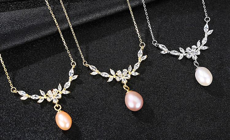 桂冠淡水真珍珠 925純銀項鍊