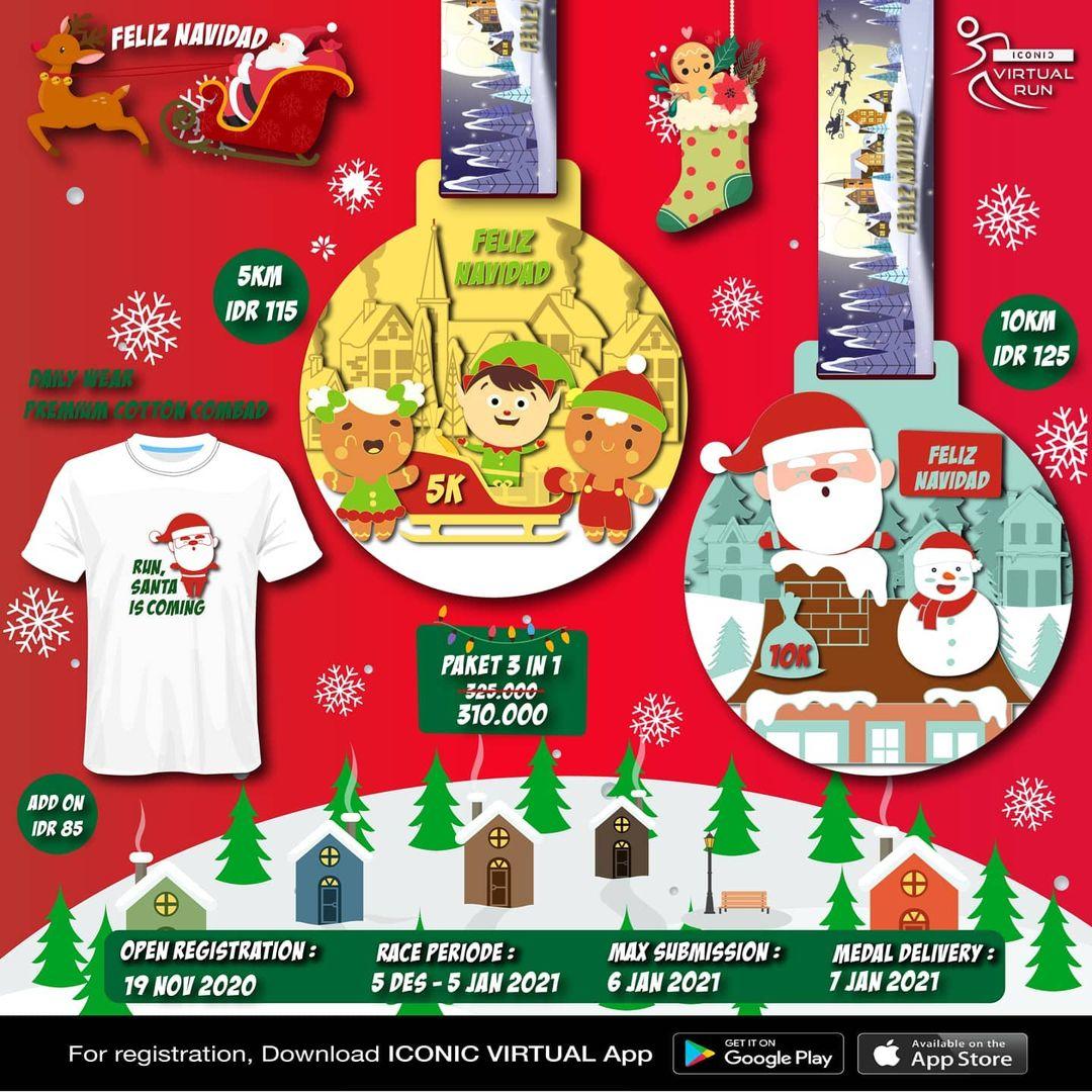 Iconic Virtual Run ∙ Feliz Navidad Series • 2020