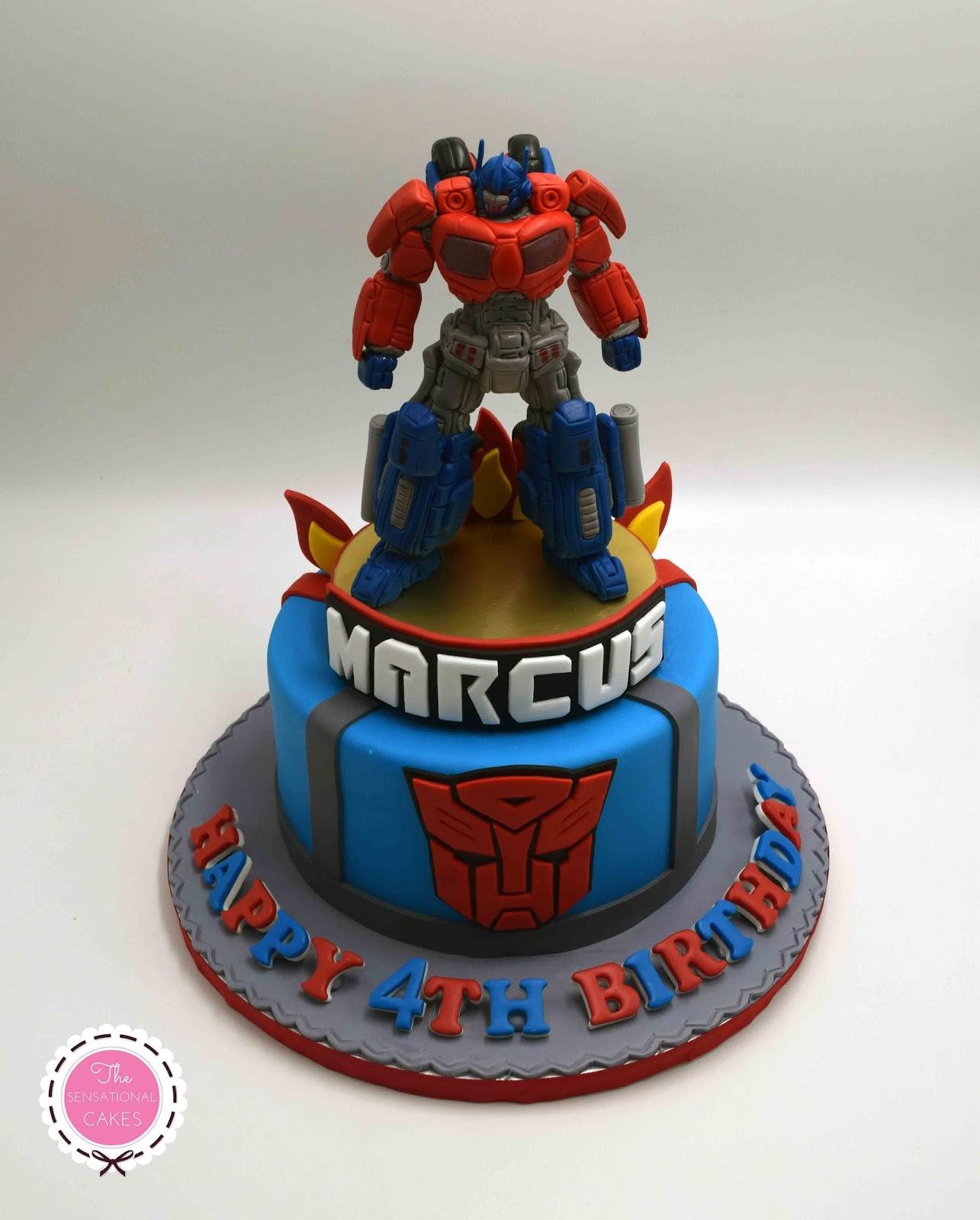 The Sensational Cakes Transformers Concept Birthday Boy Cake 3d