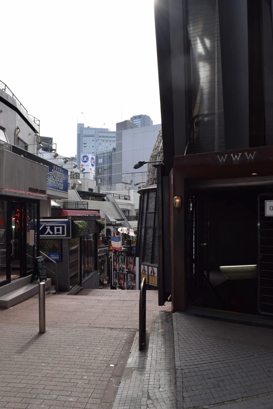 Backstreet in Shibuya Tokyo