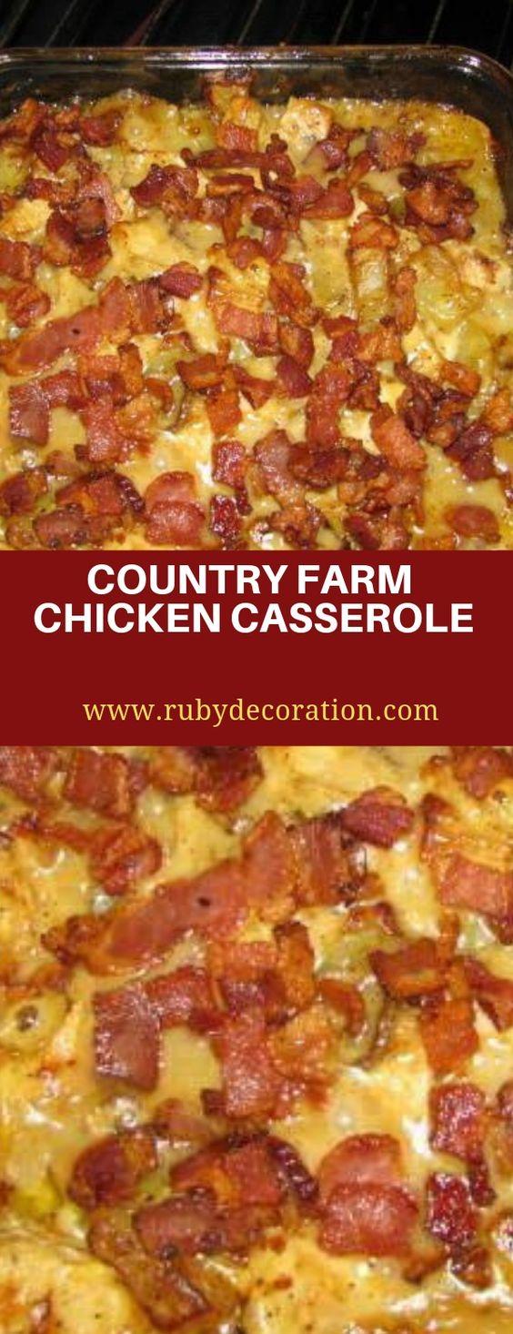 COUNTRY FARM CHICKEN CASSEROLE | Jane Food Recipes