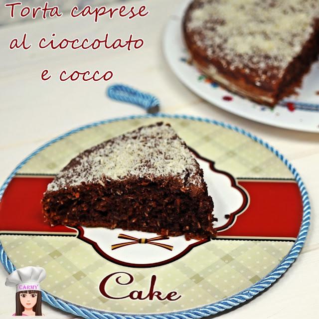 torta caprese al cocco