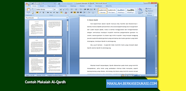 Contoh Makalah Al-Qardh