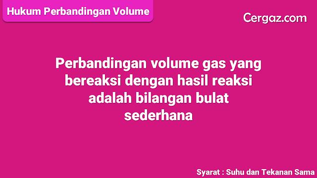 hukum perbandingan volume