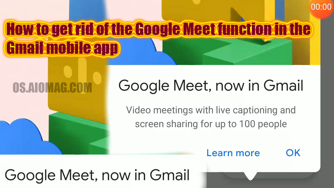 How to get rid of the Google Meet function in the Gmail mobile app and remove the video-chat icon from your inbox