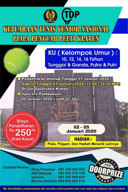 PELTI Klaten: Kejuaraan Tenis Yunior Nasional Piala Pengkab Pelti Klaten