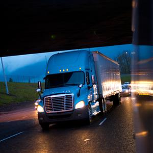 Trucker using TruckLogics trucking business software