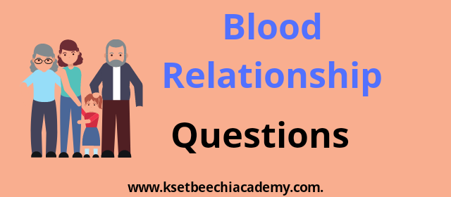 blood relationship aptitude questions and answers