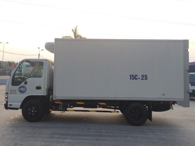 Isuzu 1.9 tấn đông lạnh hải phòng