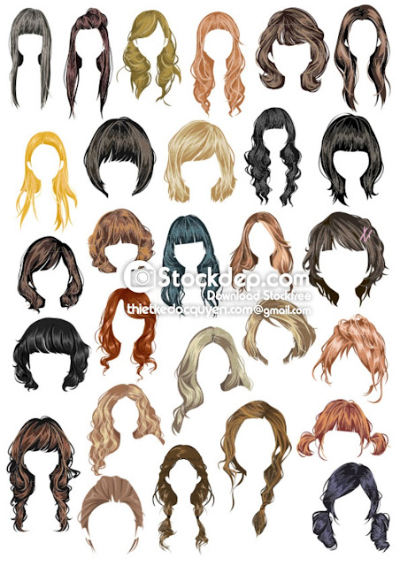 Hairstyle vector free