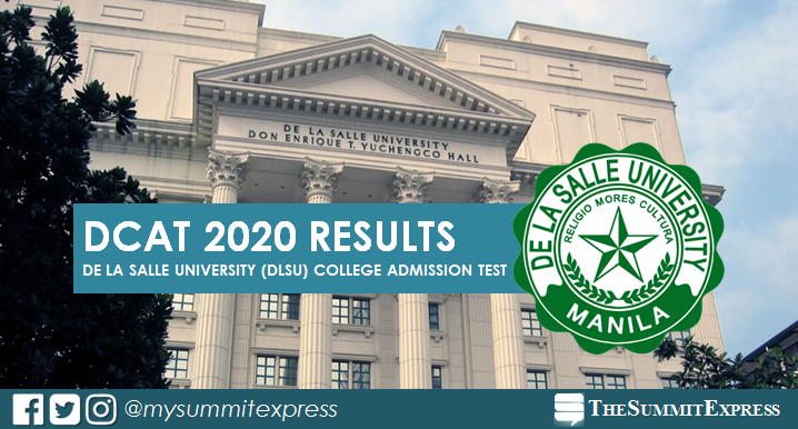 DLSU Entrance Exam DCAT 2020 Results out online