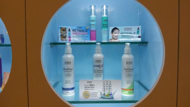 Retinol-C and Skin Prep, AcneX and So Gentle Gel Cleansers.