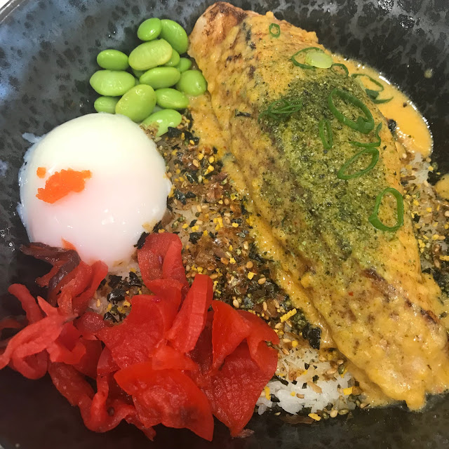 OMI, Doncaster, salmon on rice