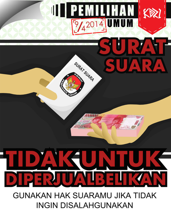 Pemilu 2014, Tolak Politik Uang, Anti Golput