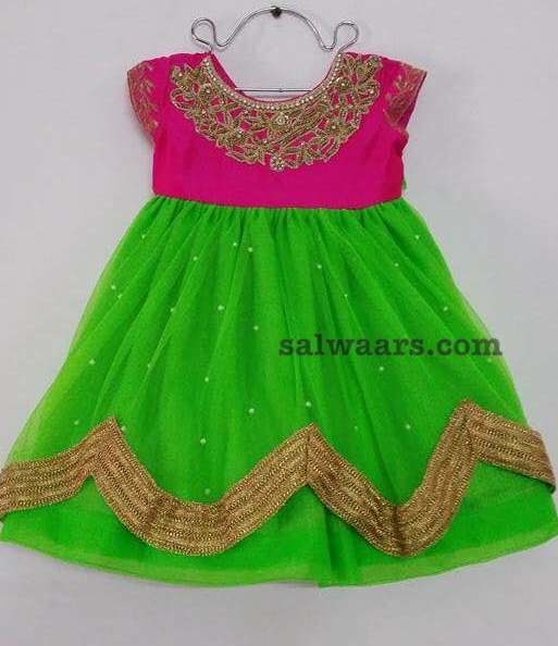 2 Layer Green Frock