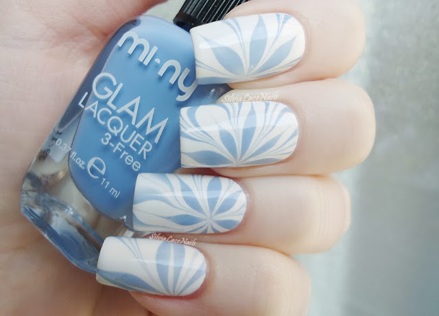 MI-NY Water marble snowflakes, winter flowers