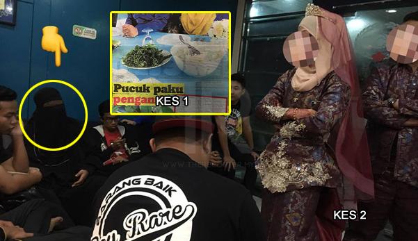 Dengan masih berbaju pengantin terpaksa menghadap balai polis! Pengantin rugi RM6500 ditipu wedding planner berpurdah