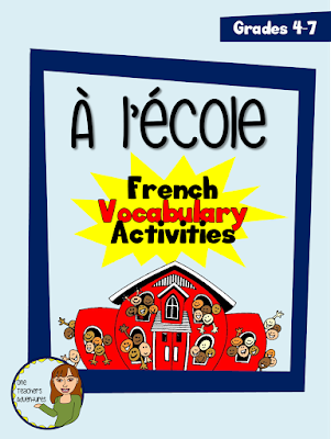 https://www.teacherspayteachers.com/Product/A-lecole-School-themed-beginner-French-vocabulary-activities-for-grades-4-7-2616554