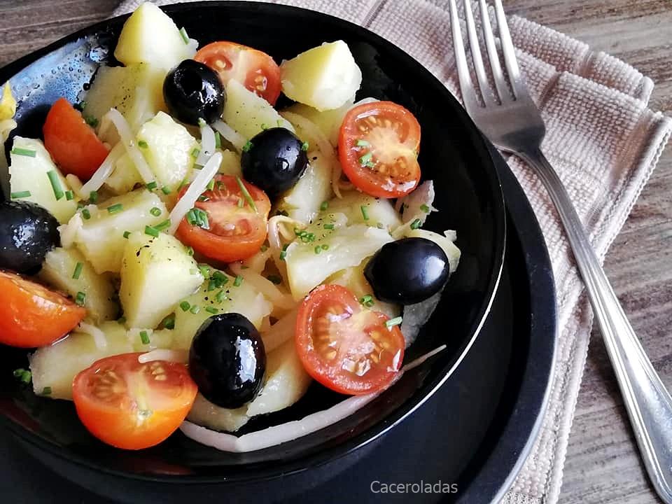 Ensalada de patatas con vinagreta de cebollino