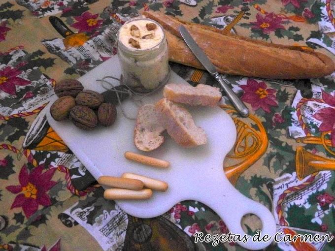Paté de queso y nueces