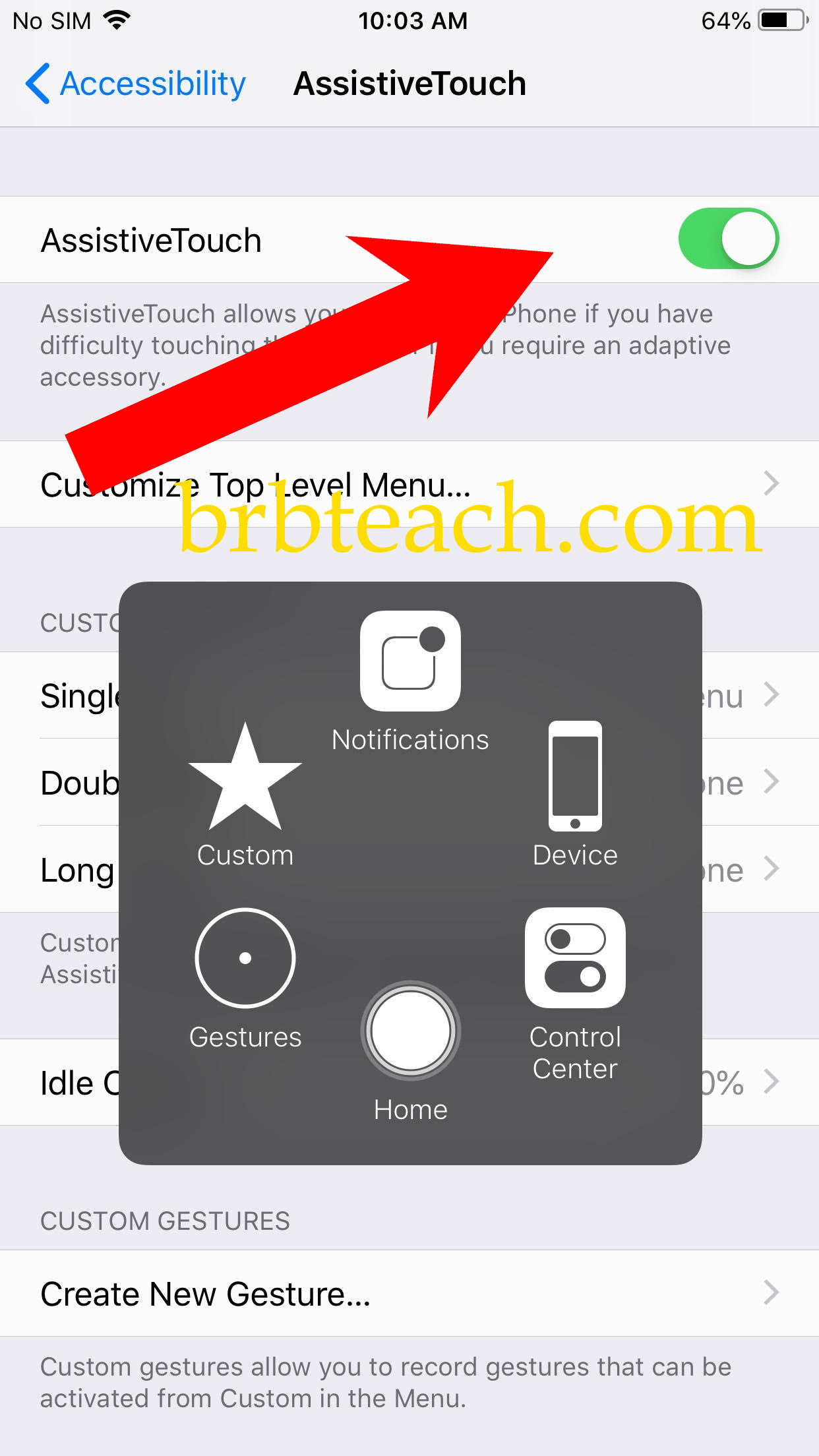 How to turn on Assistive touch