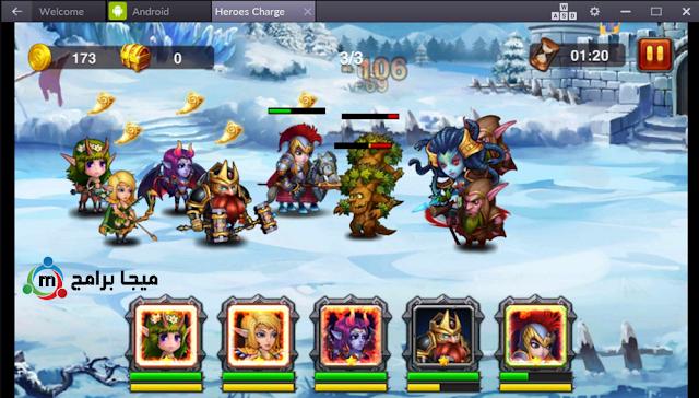 تحميل لعبة الابطال Heroes Charge اخر اصدار مجانا