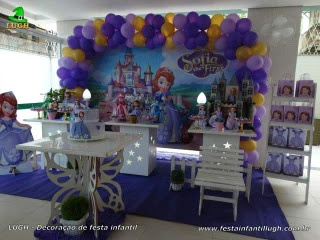 Decoração de aniversário Princesa Sofia - Festa infantil