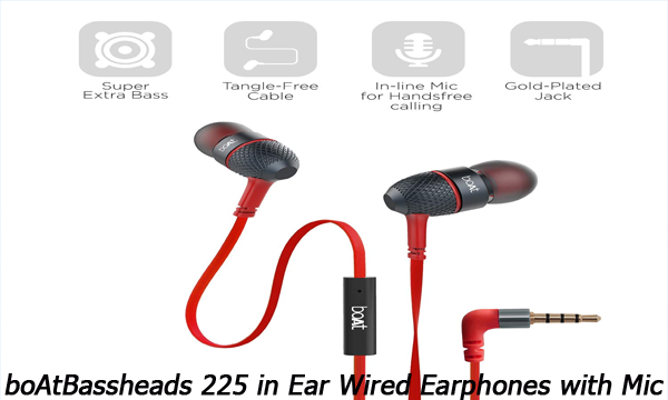 boAtBassheads 225 in Ear Wired