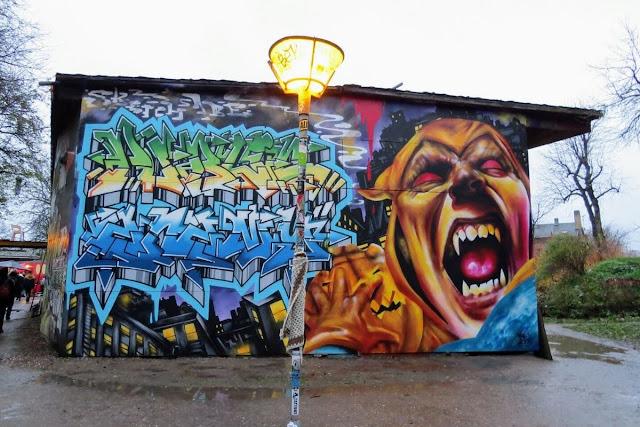 Winter in Copenhagen: Street Art in Christiania