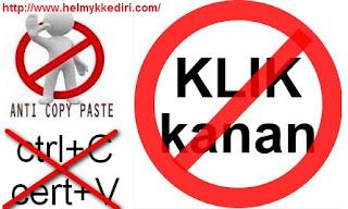 Memasang Peringatan Anti Klik Kanan pada Blog