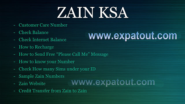 Zain Mobile network Helpful codes