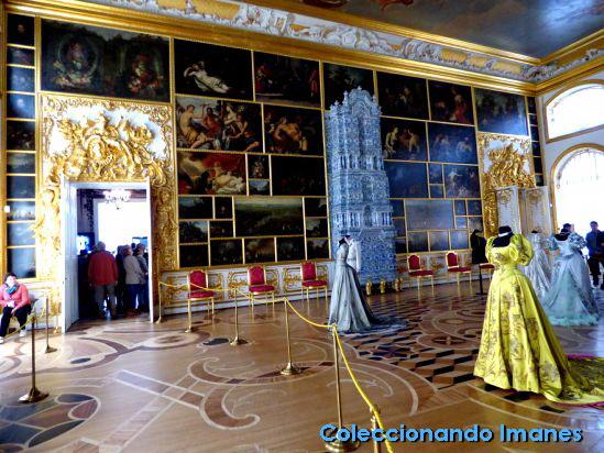 Habitación con retratos Palacio de Catalina de Pushkin