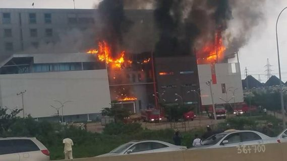 Fire engulfs House on the Rock Church in Abuja (photos)
