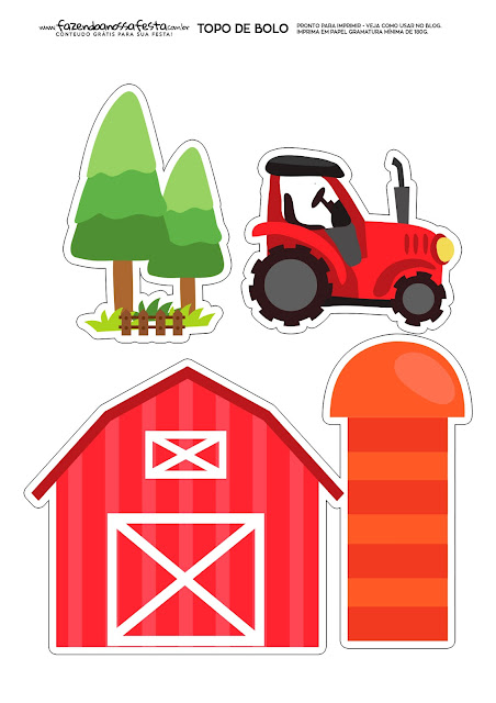 The Farm: Free Printable Cake Toppers.