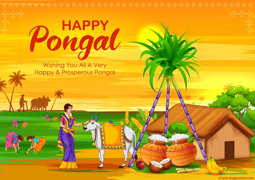 Happy Pongal Wishes in tamil images hd 2021