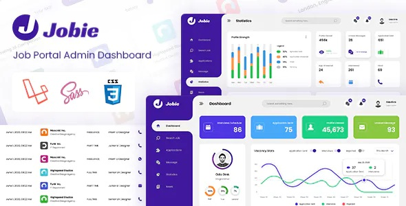 Best Job Portal Laravel and Bootstrap Admin Dashboard Template