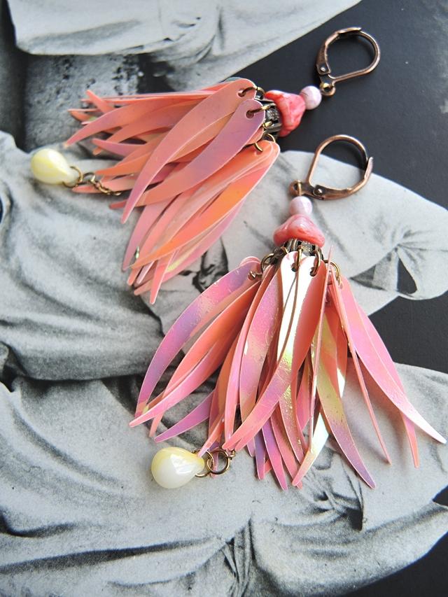 DIY oorbellen/earrings 'perruche'